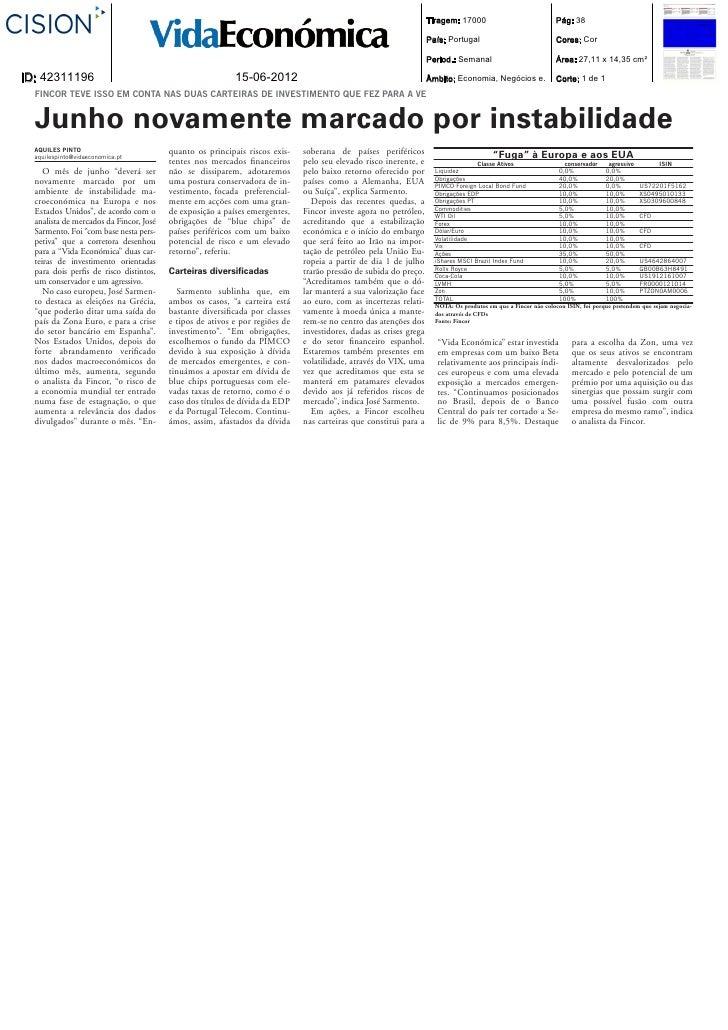 Fincor in VE (carteira)   15-06-12