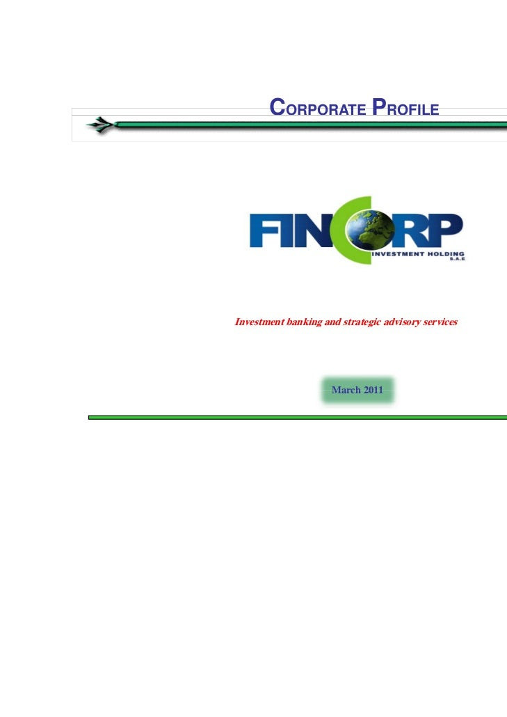 Fincorp -  Investment Bank - Egypt