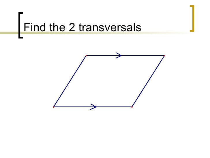 CPM Geometry Find The Transversals