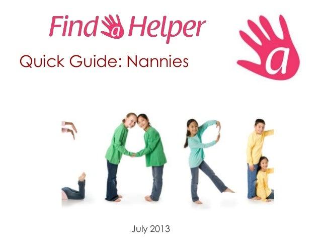 Findahelper quick guide   nannies