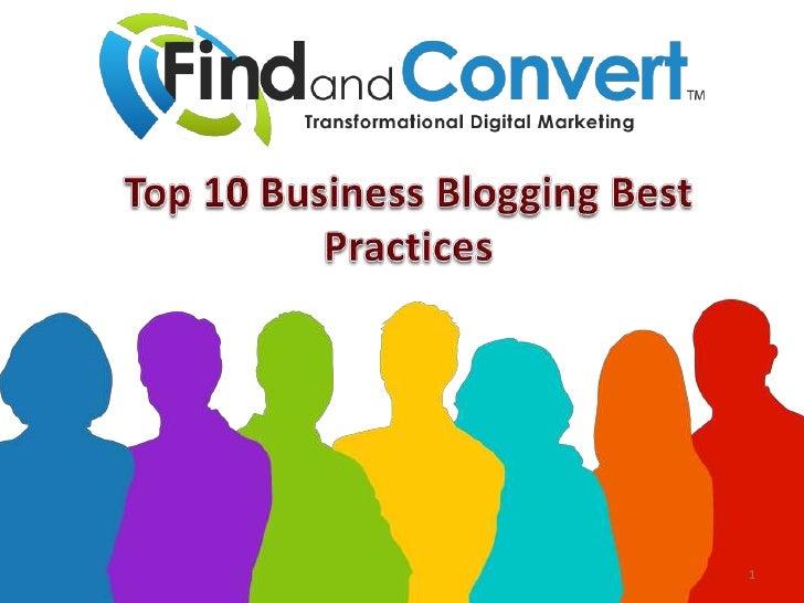 Top 10 Business Blogging Best Practices