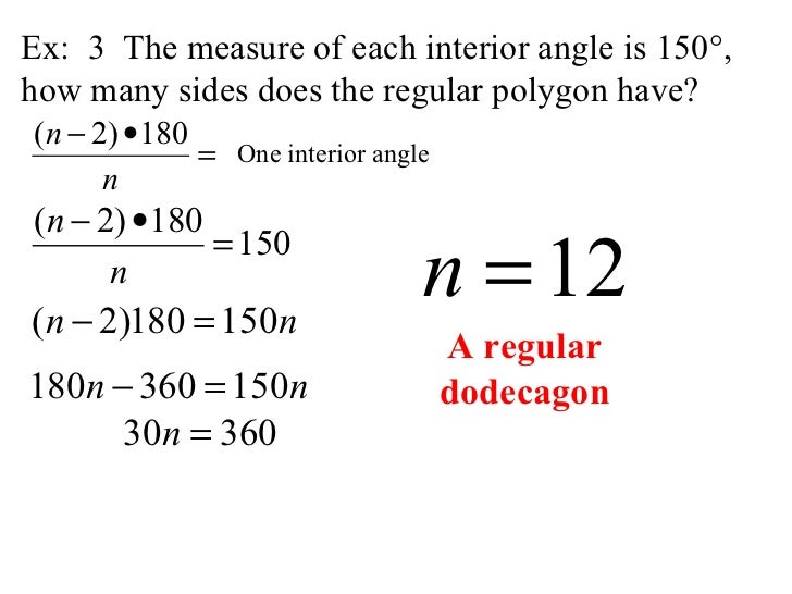 How To Find The Sum Of An Interior Angle Find Angle Measures In A Polygon Interior And