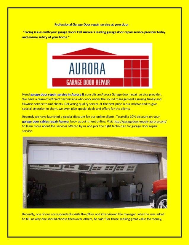 Find Garage Door Repair Services In Aurora Il