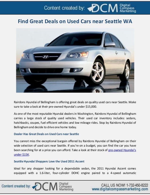 Find Great Deals on Used Cars near Seattle WA