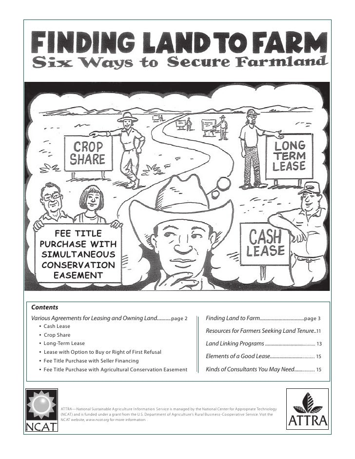 Finding Land to Farm: Six Ways to Secure Farmland