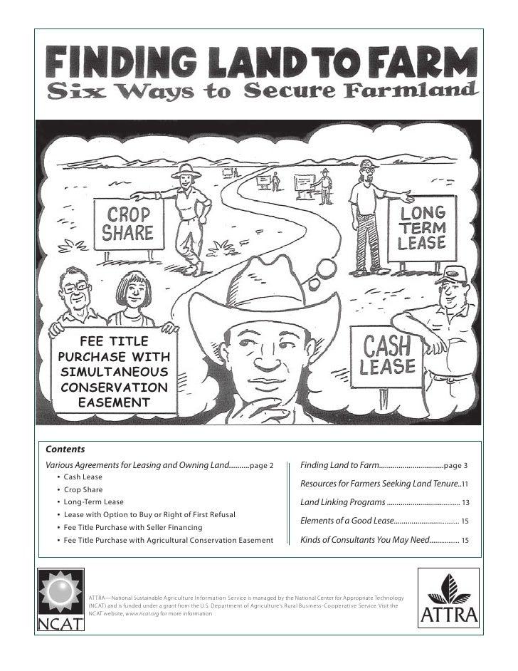 Finding Land to Farm: Six Ways to Secure Farmland