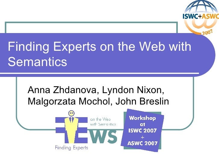 Finding Experts on the Web with Semantics