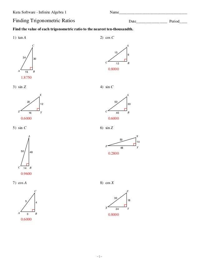 Trigonometric Ratios Worksheet trigonometric ratios worksheet – Trigonometry Worksheets Pdf
