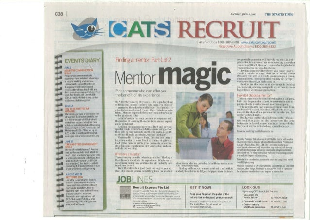 Finding a Mentor   Part I Mentor Magic - ST Recruit 3 June 2013