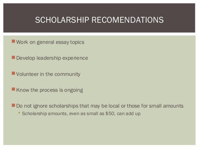 General Scholarship Essay