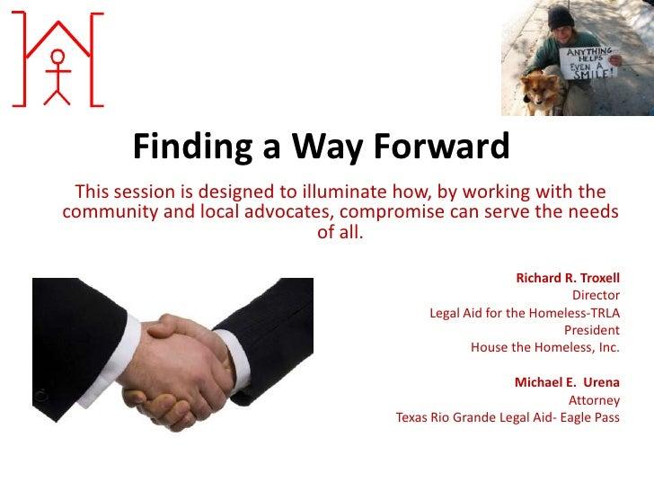 Finding a way forward