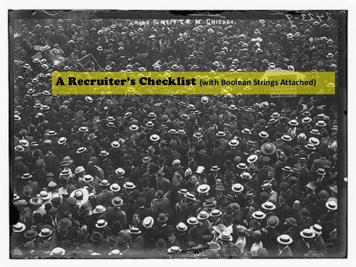 A Recruiter's Checklist (Strings Attached)