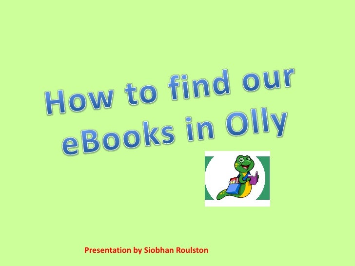 Finding e books in oliver