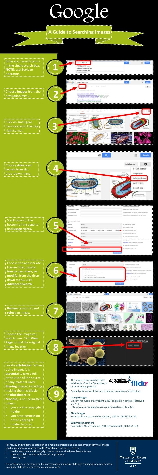 Google A Guide to Searching Images  Enter your search terms in the single search box. NOTE: use Boolean operators.  1  Cho...