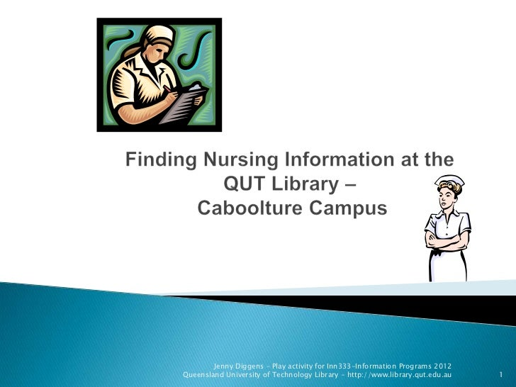 Finding information on Nursing at QUT Caboolture Campus