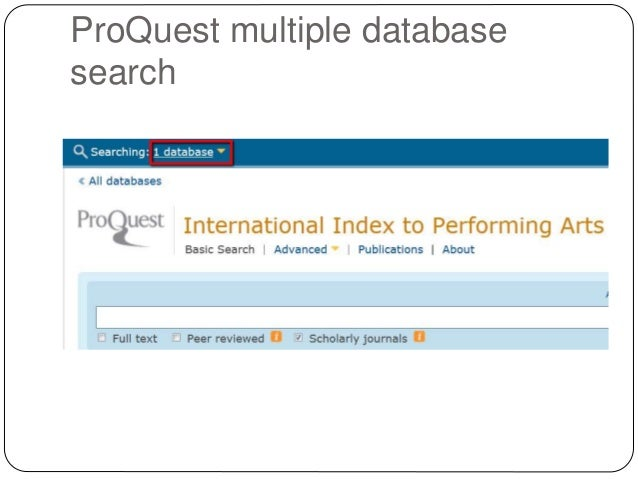 Search proquest database