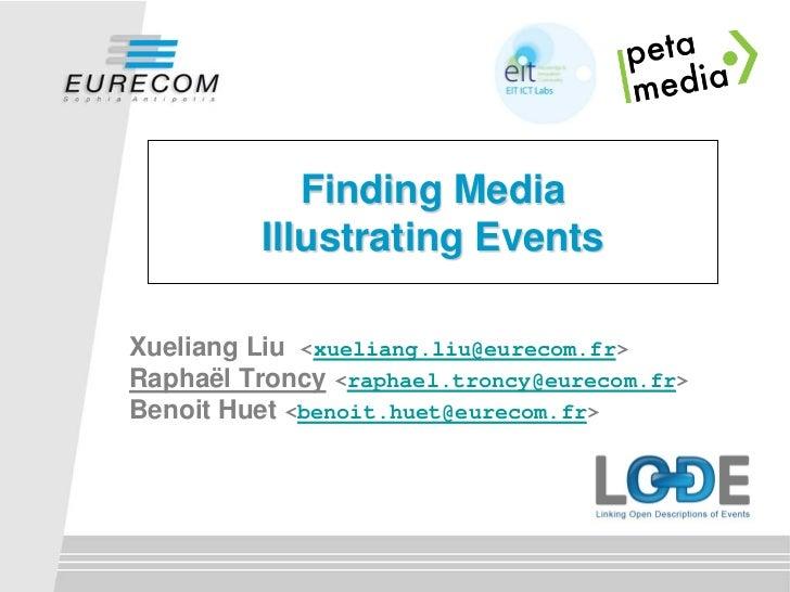 Finding media illustrating events