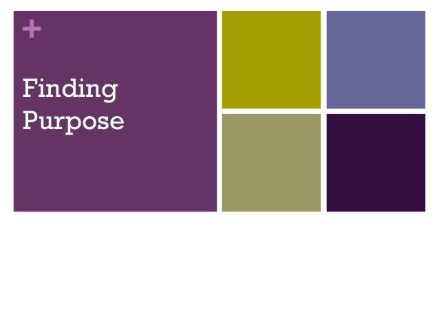 Finding purpose wcc jul 12
