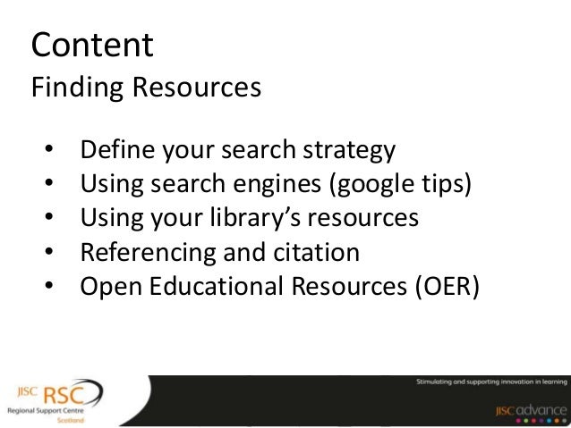Content: Finding Resources
