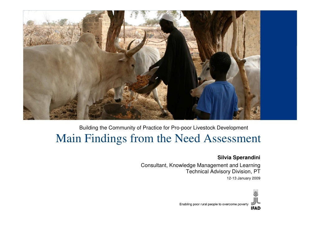 Building the Community of Practice for Pro-poor Livestock Development  Main Findings from the Need Assessment             ...