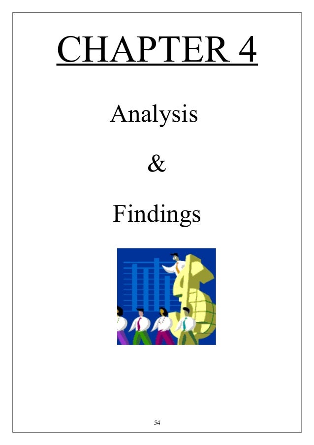 Findings And Analysis Dissertation