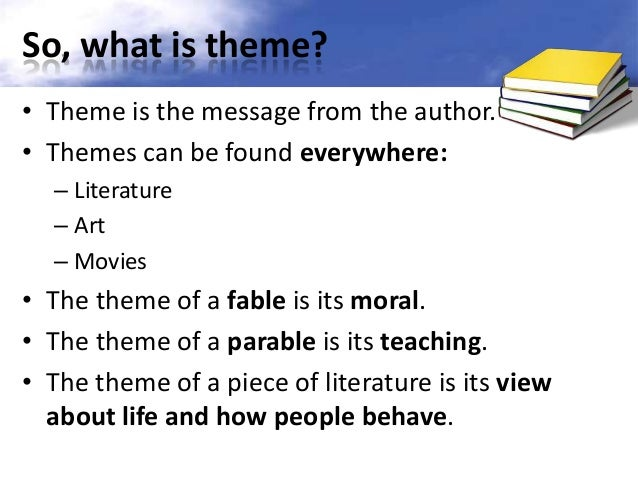 essay about theme in literature Literary essay structure introductory paragraph: theme or big idea statement (general, broad statement without an i voice) audience needs to know where this essay is going - children are often intimidated and fall silent.