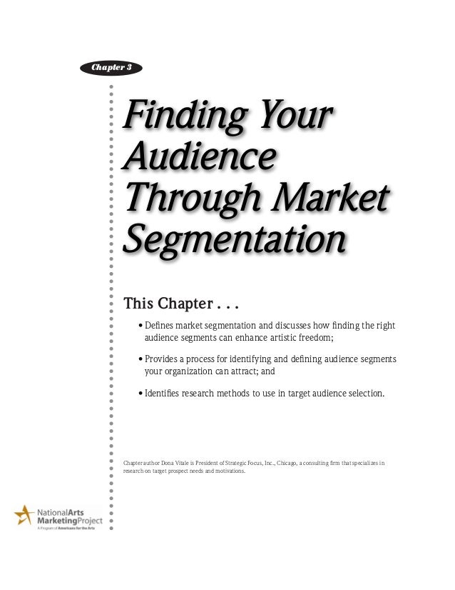 Finding Your Audience Through Market Segmentation