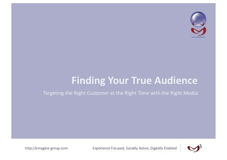 Finding Your True Audience