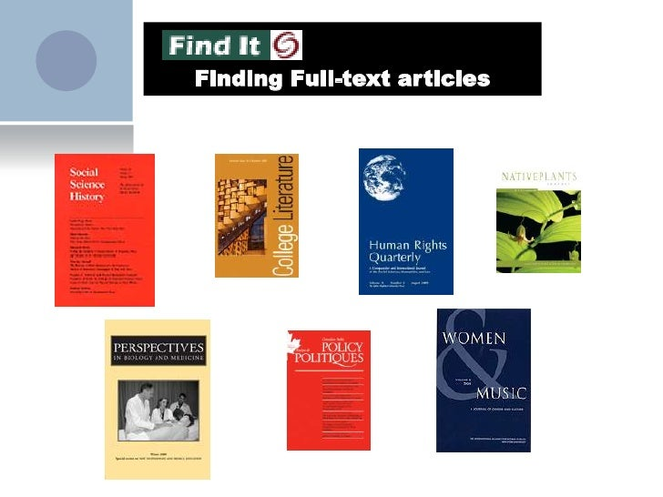 Finding Full-text articles<br />