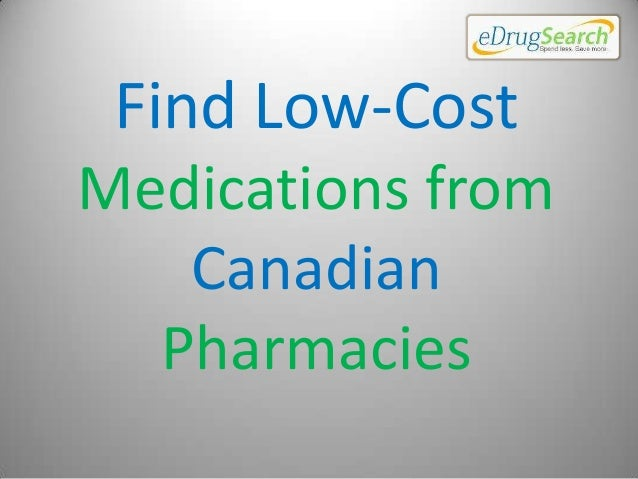 Find Low-Cost Medications from Canadian Pharmacies