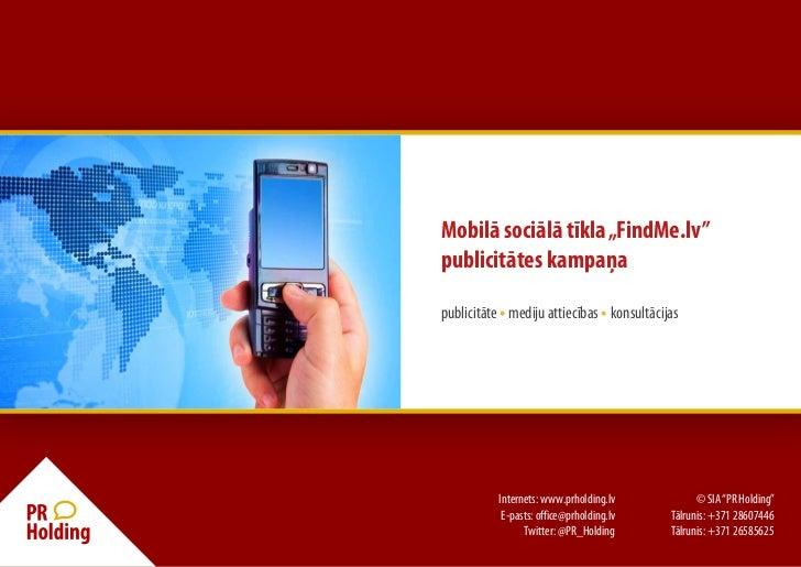 FindMe.lv publicitātes kampaņa (red)
