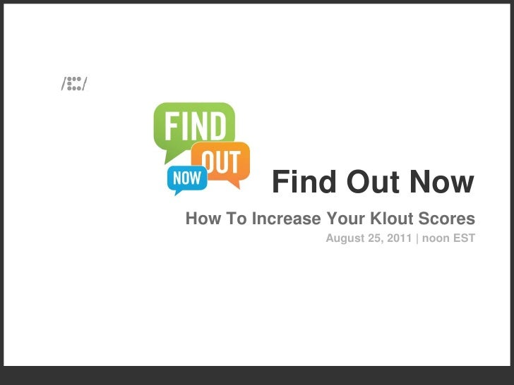 Klout - What it is, How Brands Can Use It & How to Improve Your Score