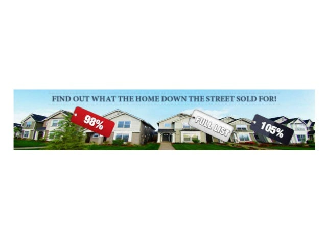 FREE List Of Recent Home Sales And Active Listings In Your Area