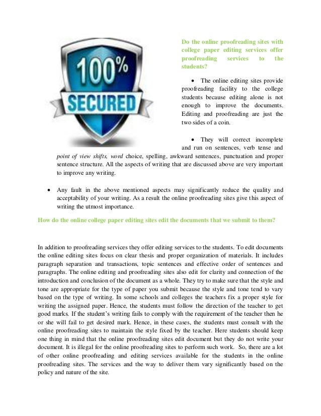 college essays editing service Our amazing features eliteessaywriters why use a college essay editing service well free essays we accept.