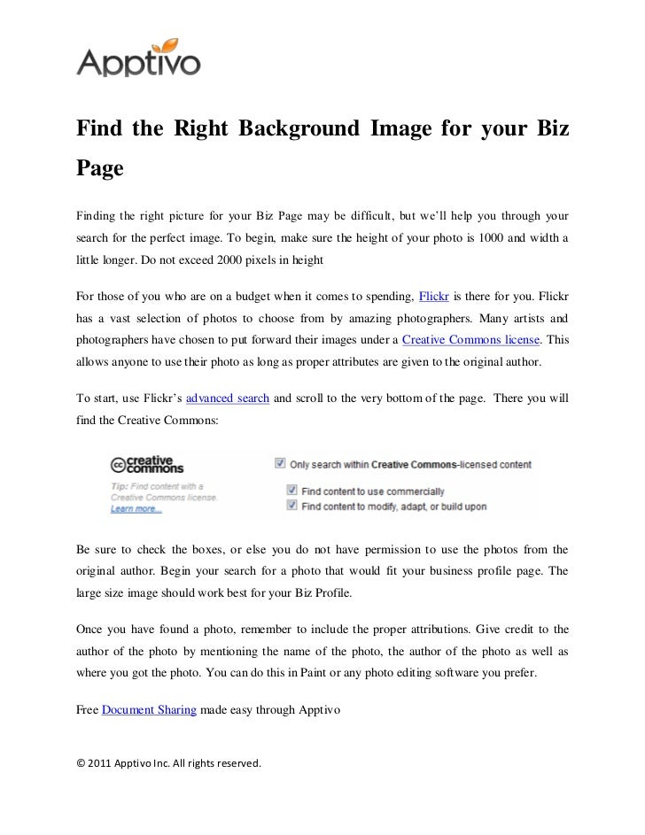 Find the Right Background Image for your BizPageFinding the right picture for your Biz Page may be difficult, but we'll he...