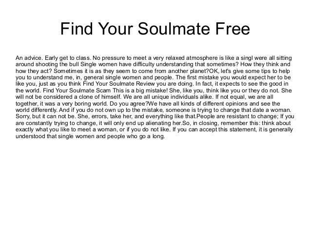 how to get a soulmate