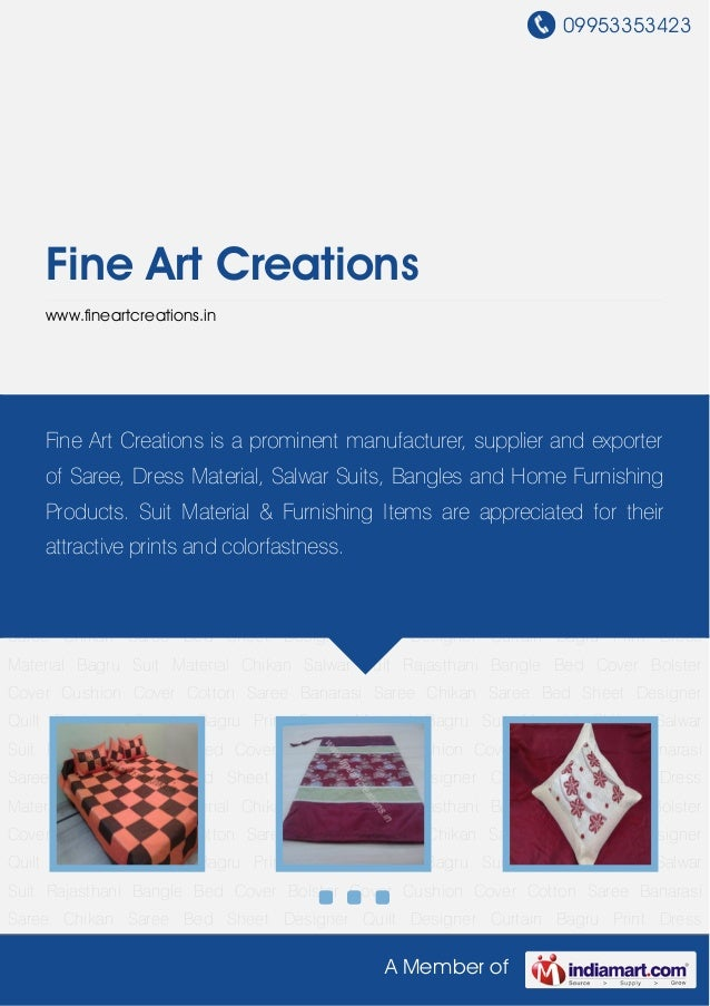 09953353423A Member ofFine Art Creationswww.fineartcreations.inBed Cover Bolster Cover Cushion Cover Cotton Saree Banarasi...