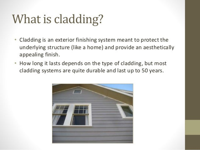 Types Of Exterior Wall Cladding : Types of cladding