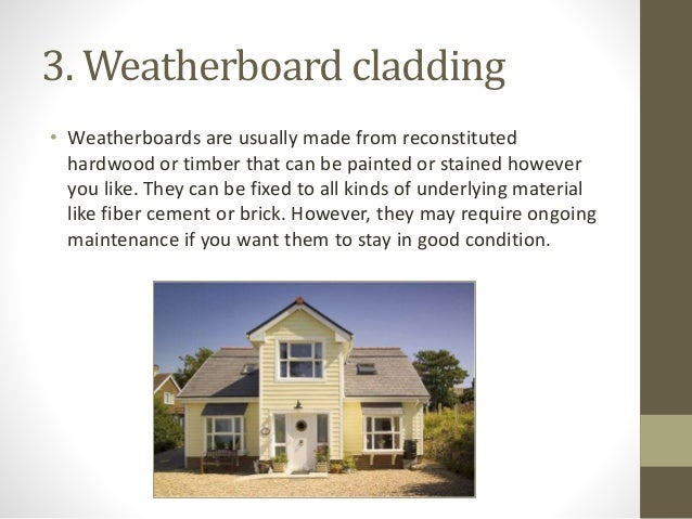 Types Of Cladding Materials : Types of cladding