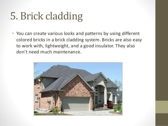 Types Of Cladding : Types of cladding