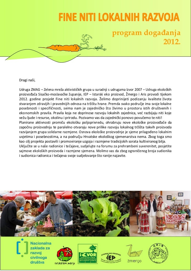 FINE NITI LOKALNIH RAZVOJA program događanja 2012.
