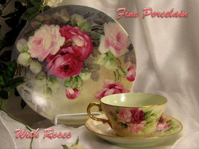 Fine porcelain with roses
