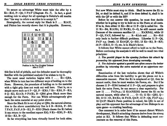fine  reuben  the ideas behind the chess openings