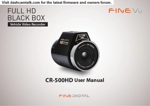 FineVu CR-500HD User Manual