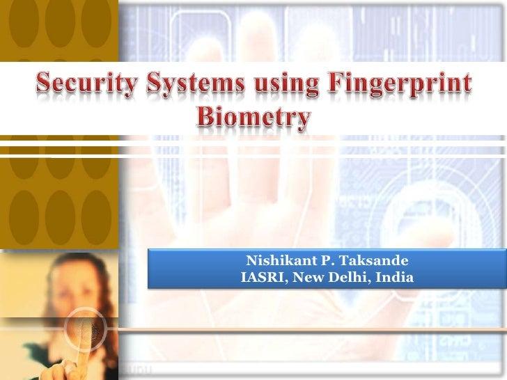 Fingerprint, seminar at IASRI, New Delhi