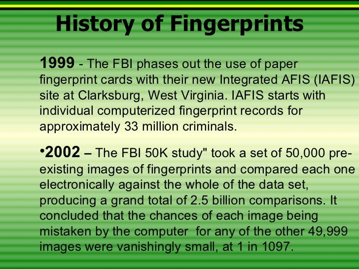 fingerprint history Applicant type fingerprint cards may be submitted electronically to the florida   criminal history check, if the licensing or employing agency has agreed and.