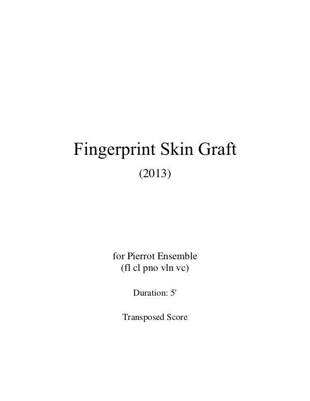 (2013) for Pierrot Ensemble (fl cl pno vln vc) Duration: 5' Transposed Score
