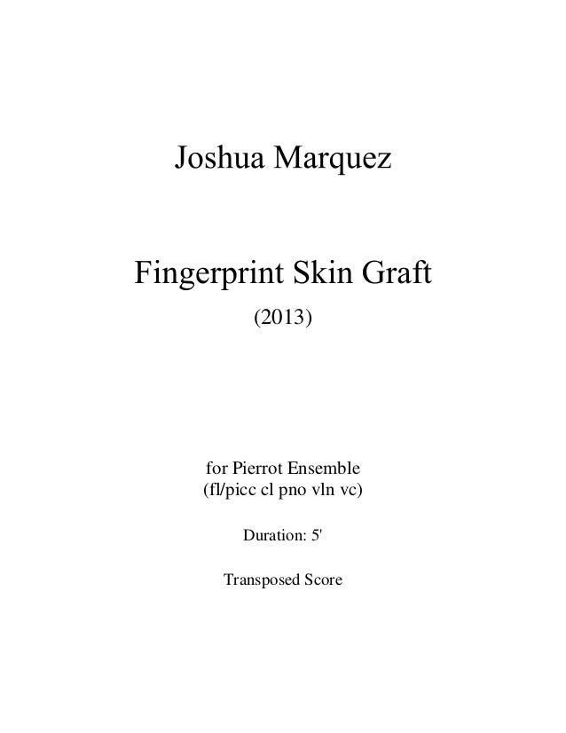 (2013) for Pierrot Ensemble (fl/picc cl pno vln vc) Duration: 5' Transposed Score