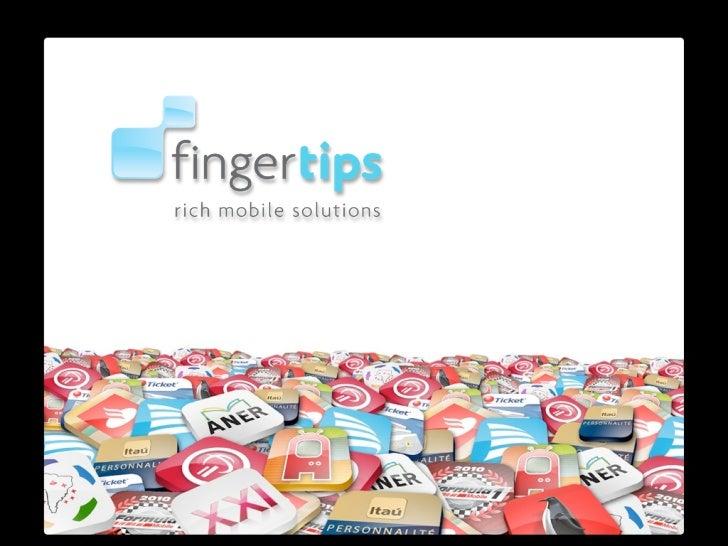 Portfólio Fingertips inglês
