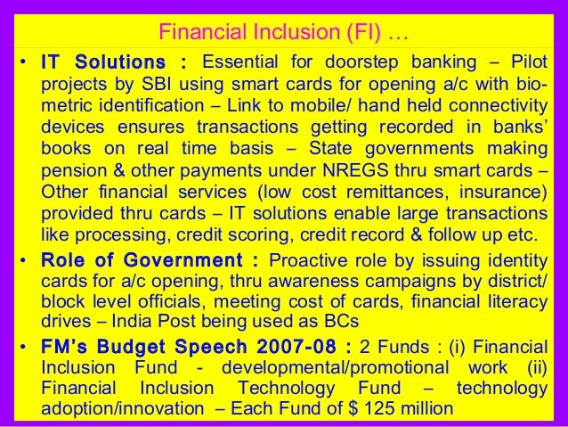 role of government in financial inclusion